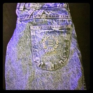 Vintage 80s Acid Wash Mom Jeans